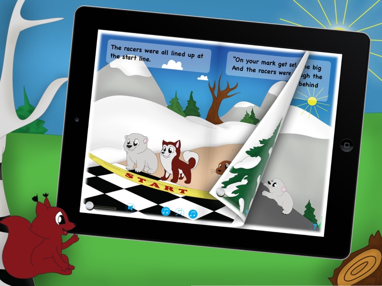 The Big Race!! an animated winter storybook for kids and toddlers with cute animals screenshot-3