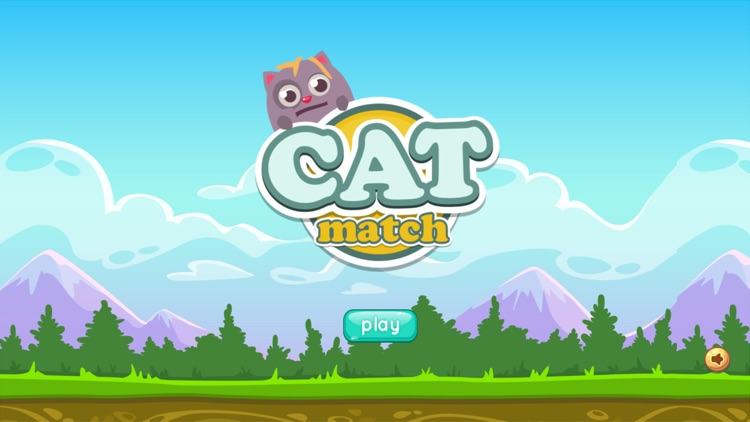 Cat Match Game for kids