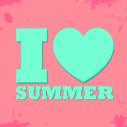 I love summer - stickers for photo