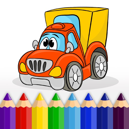 Cars, Trucks and other Vehicles - Coloring Book for Little Boys, Little Girls and Kids