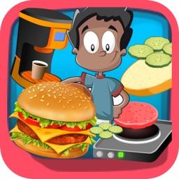 burger shop big chef : games maker food hamburger for girls and boys