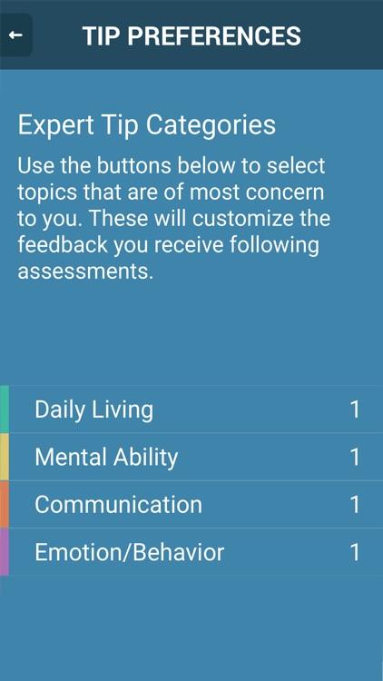 cTrack Memory Loss Monitoring for Caregivers screenshot-4