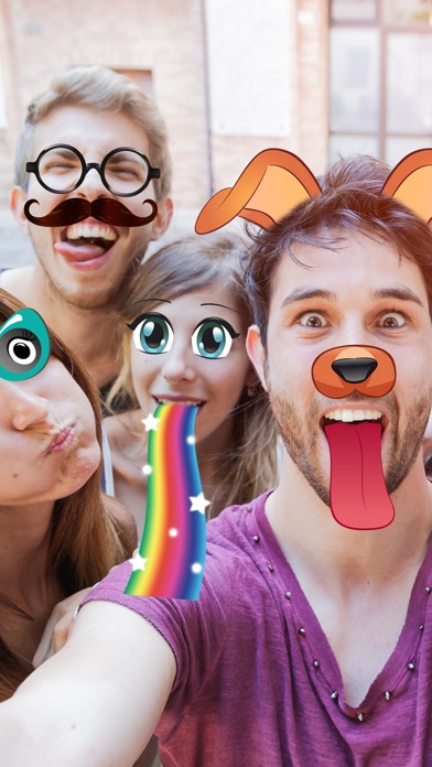 Snap photo editor of photos for face effects with stickers for funny selfies Screenshot on iOS