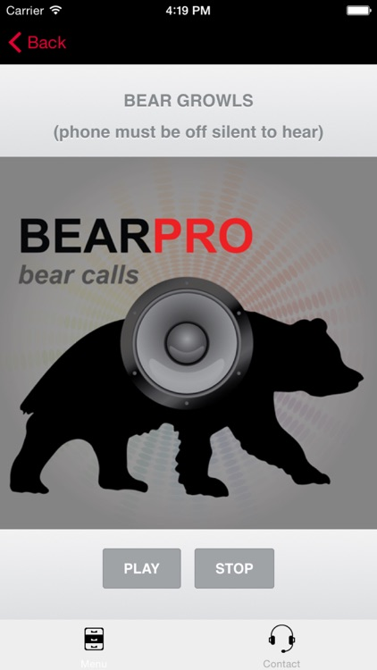 REAL Bear Sounds & Bear Calls for Big Game Hunting- BLUETOOTH COMPATIBLE screenshot-0