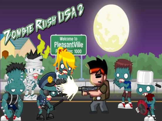 Zombie Rush USA - hate Stupid dead walking Zombies-ipad-0