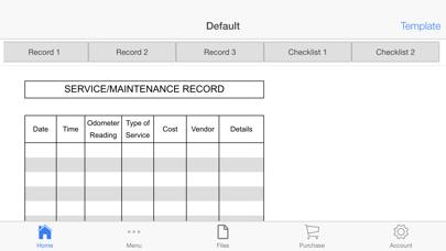 Vehicle Maintenance Screenshots