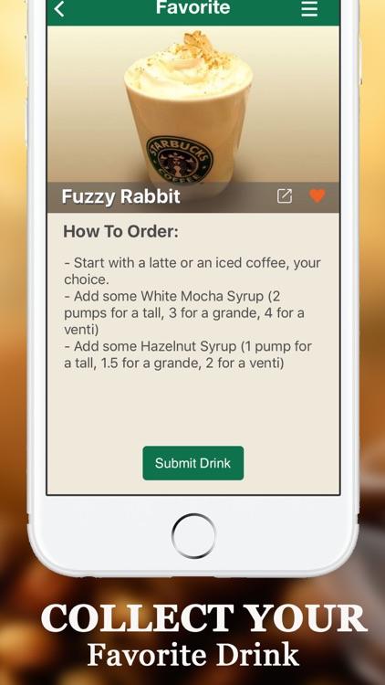 Secret Menu for Starbucks Free- Coffee, Frappuccino, Macchiato, Tea, Cold & Hot Drinks Recipes App screenshot-4