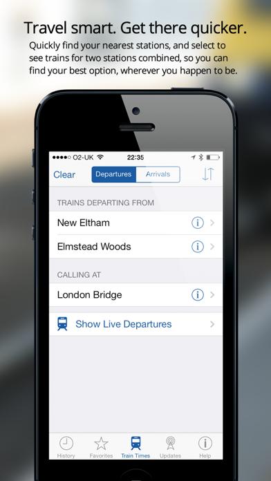 Live Train Times UK - National Rail Screenshots