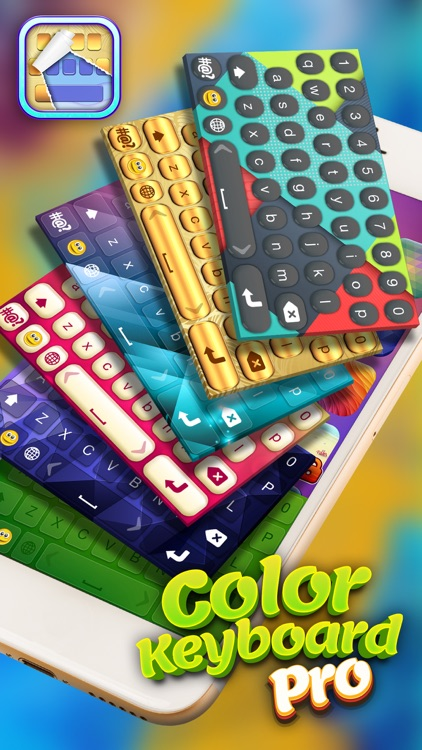 Color Keyboard Pro – Free Text Fonts and Emoticons with Custom Background Theme.s
