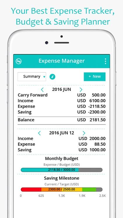 Money Expense Manager (Spending & Saving Planner)