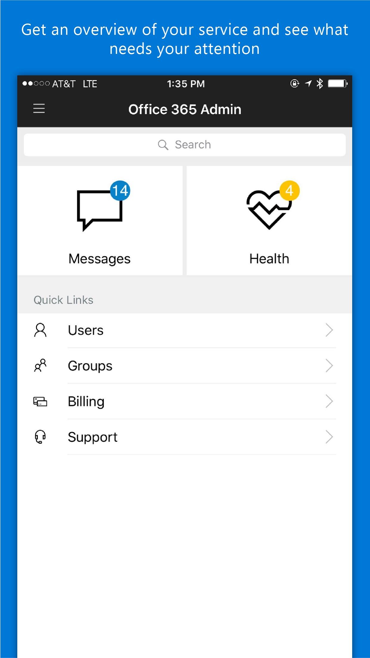 Office 365 Admin Screenshot
