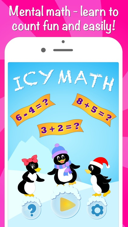 Icy Math Free Addition and Subtraction game for kids and adults good brain training and fun mental maths tricks