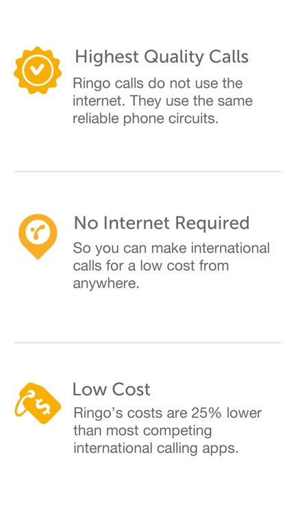 Ringo: Low-cost, local and international calls screenshot-4