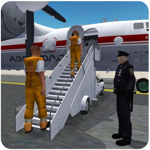Тюремные Заключенные Самолет Transporter 3D - Уголовное Симуляторы игры