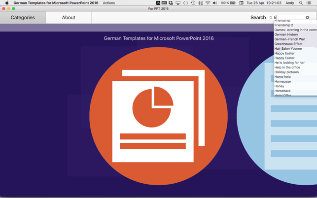 german templates for microsoft powerpoint 2016 をmac app storeで
