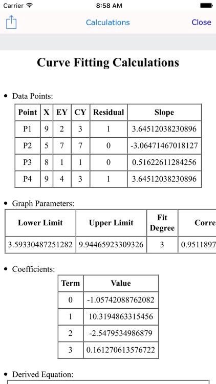 Curve Fit Graph Calc Lite screenshot-4