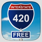 Interstate 420 - Free icon