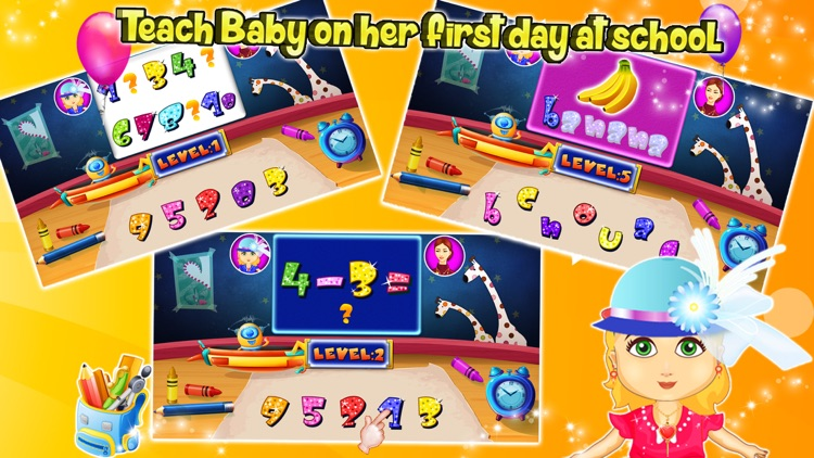 Baby First Day At School – kids learning & education game screenshot-3