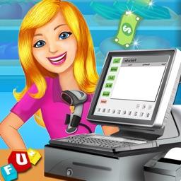 Supermarket Cash Register Sim- Kids Educational Shopping Mall & Time Management Fun Games