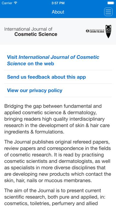 International Journal of Cosmetic Science screenshot one
