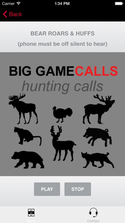 Big Game Hunting Calls - The Ultimate Big Game Hunting Calls App - BLUETOOTH COMPATIBLE screenshot-0