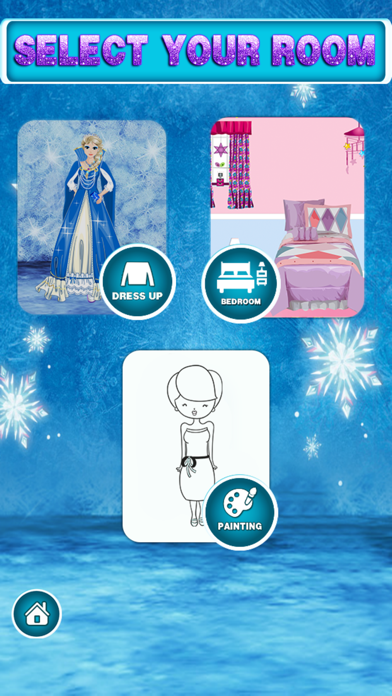 Ice Queen Dress Up Salon Room Design and Painting: Game for kids toddlers and boys screenshot three