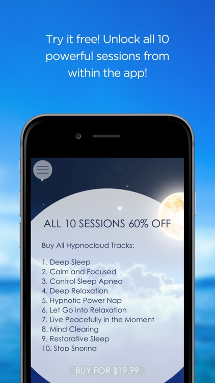 Deep Sleep and Relaxation Hypnosis Free by Hypno Cloud - Use Self-Hypnosis to Fully Relax and Enjoy Restful Sleep every night screenshot-3