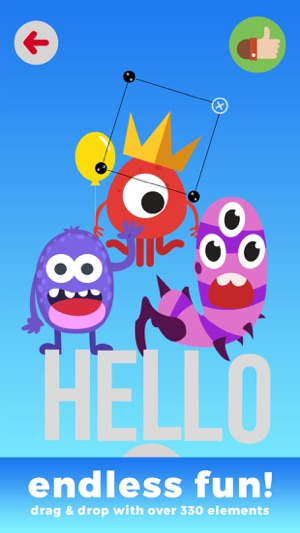 Kids Monster Creator - early math calculations using voice recording and make funny monster images Screenshot