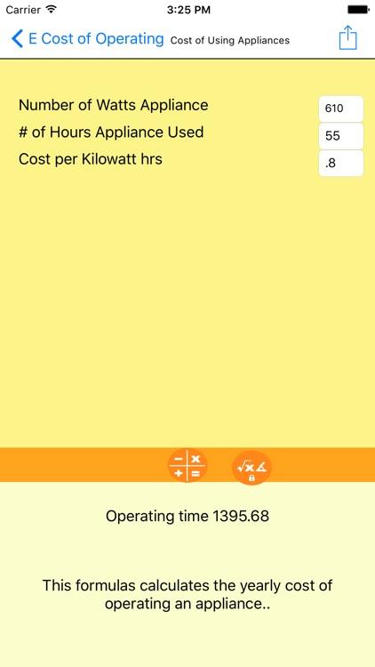Electrical Formulator screenshot-3
