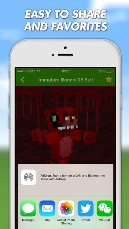 FNAF Skins For Minecraft PE (Pocket Edition) Pro screenshot-3