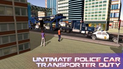 La policía camión de transporte de coches - coche camión y entregar los vehículos de policíaCaptura de pantalla de2