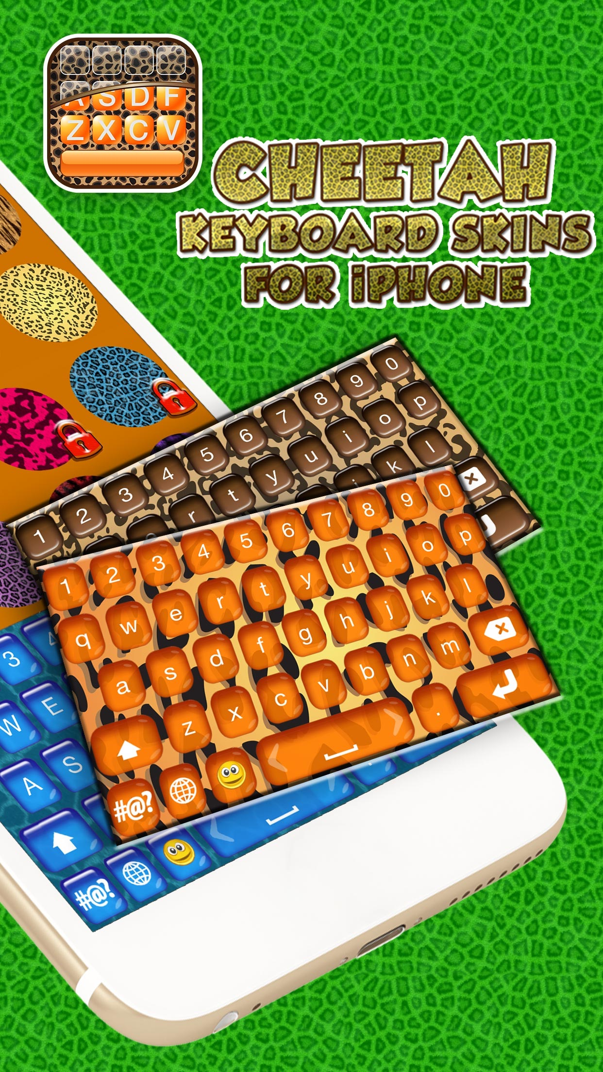 Cheetah Keyboard Skins for iPhone – Animal Print Design.s and Custom Themes Free Screenshot