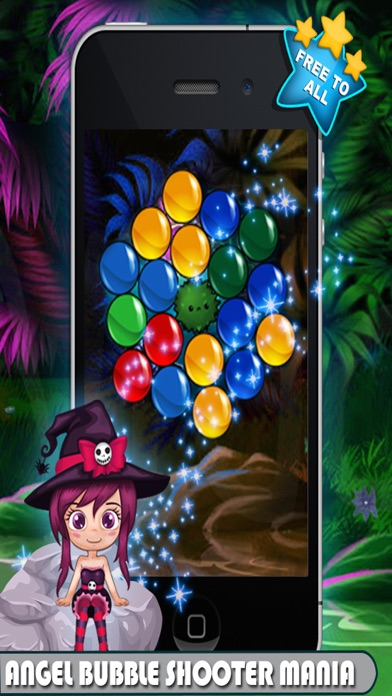 Angel Bubble Shooter Mania. Candy Smash game for kids screenshot four