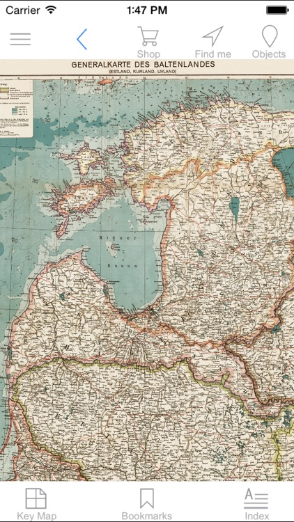 Baltic states (1917). Historical map.