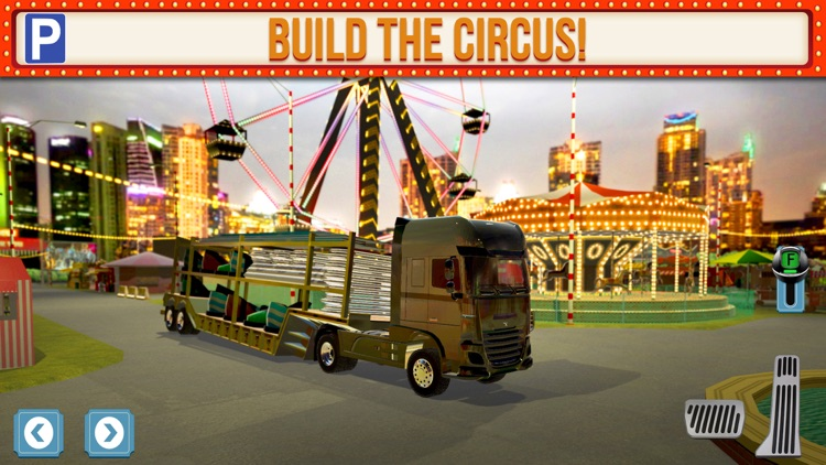 Amusement Park Fair Ground Circus Trucker Parking Simulator screenshot-1