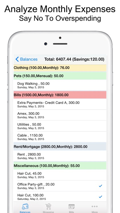 Expense Scout: Budget, Bill Reminders & Grocery Shopping List screenshot-2