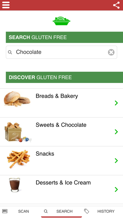 Scan Gluten Free UK FULL - Search & Barcode Scanner