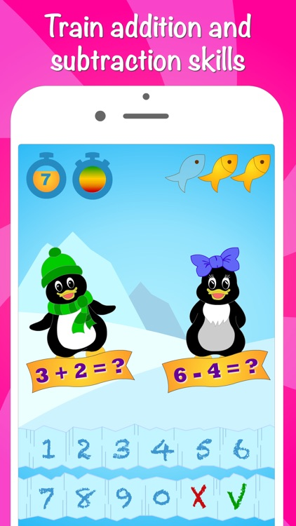 Icy Math - Addition and Subtraction game for kids