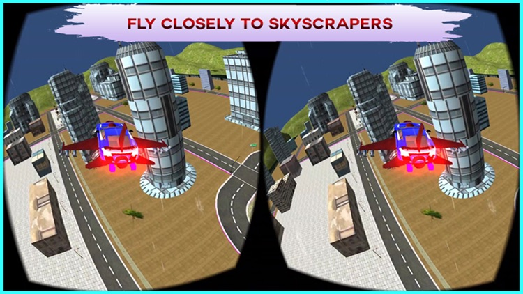 VR Flying Car Flight Simulator Pro - The best game for google cardboard Virtual Reality