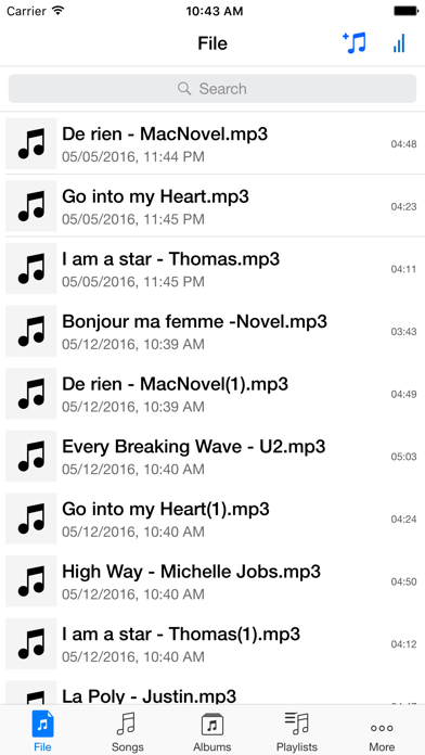 Music Player & MP3 Manager for Dropbox Screenshot on iOS