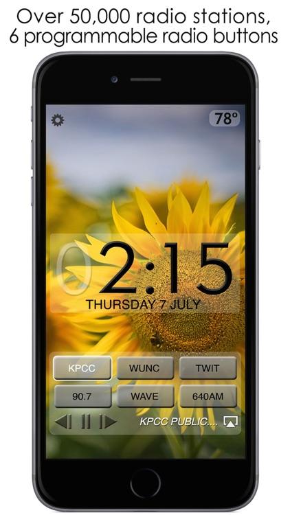 Beautiful Clock Radio Alarm screenshot-0