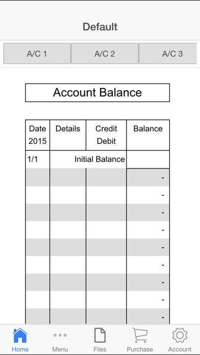 Account Balance Screenshots