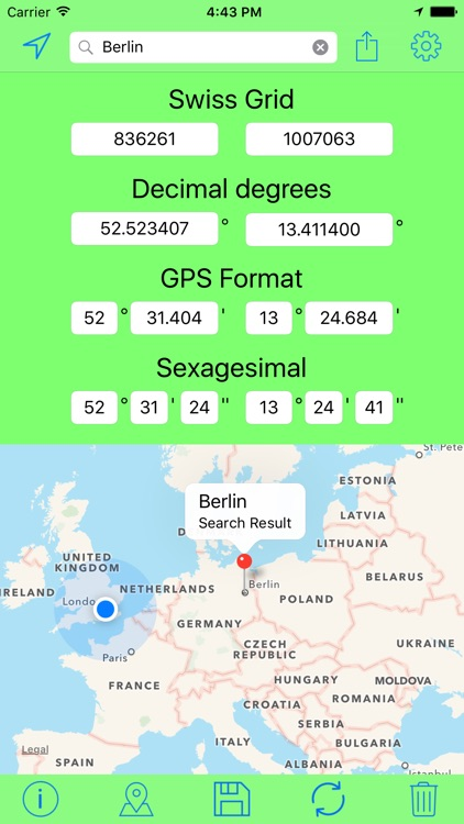 Swiss Grid Coordinates Tool screenshot-2