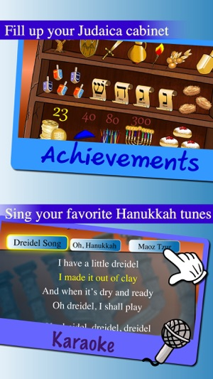 Hanukkah Story, Hebrew Songs Music, Jewish Holidays Prayers Trivia, Kids  Dreidel Game Judaism On The App Store