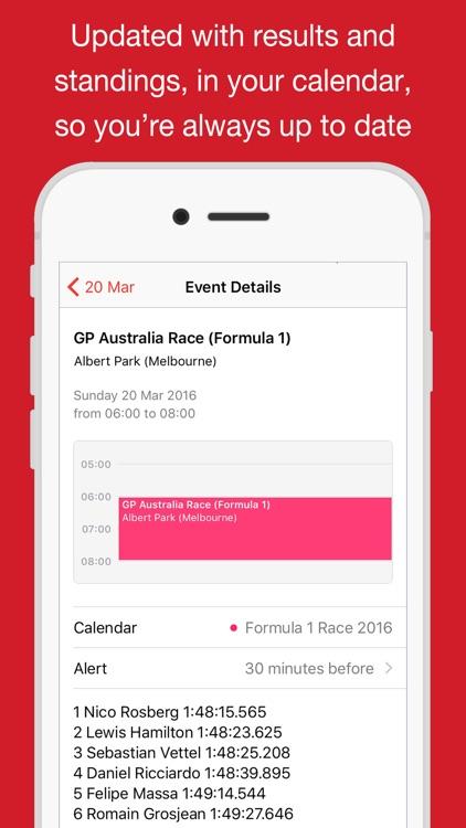 Formula 2017 Race Calendar (AutoCal)