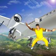 Prisoner Escape Police Airplane - Prison breakout mission in criminal transporter aircraft game