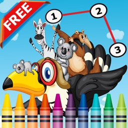 Animals Dot to Dot Coloring Book for Kids grade 1-6: coloring pages learning games
