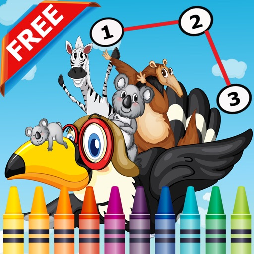 Animals Dot to Dot Coloring Book for Kids grade 1-6: coloring pages ...
