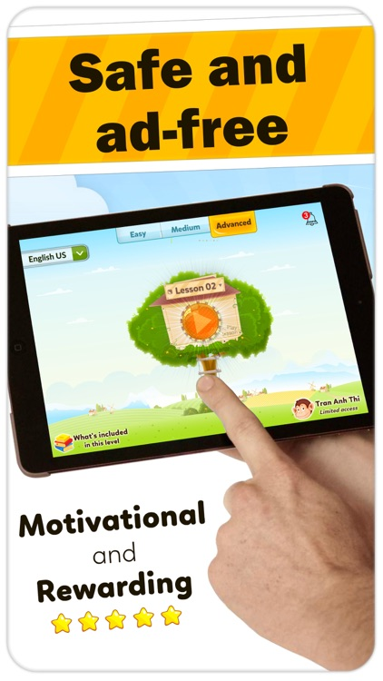 Monkey Junior: kids learn to read English, Spanish screenshot-3