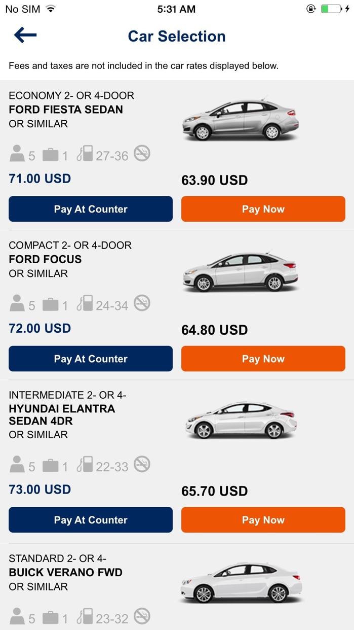 Budget – Car Rental Screenshot